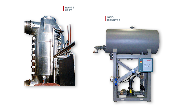 Clayton Industries Waste Heat Boiler and Skid Mounted Boiler